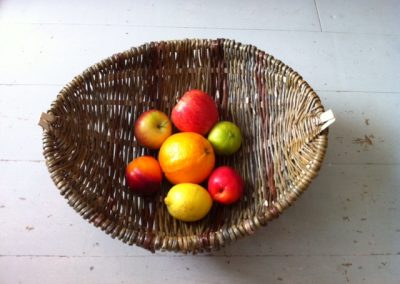 A photograph of a Irish sciathog for fruit hand crafted by Christiane Gunzi