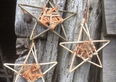 A photograph of Willow stars hand crafted by Christiane Gunzi